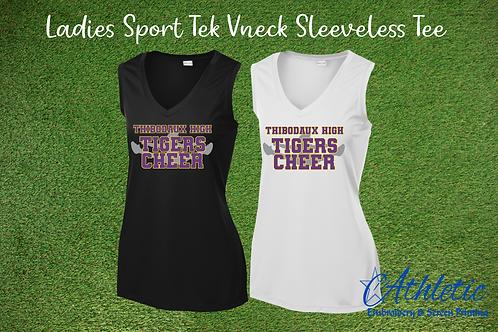 Cheerleader Design Ladies V-neck Tank