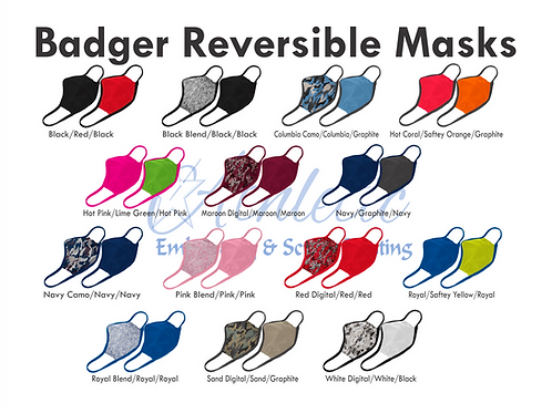Reversible Badger Face Mask