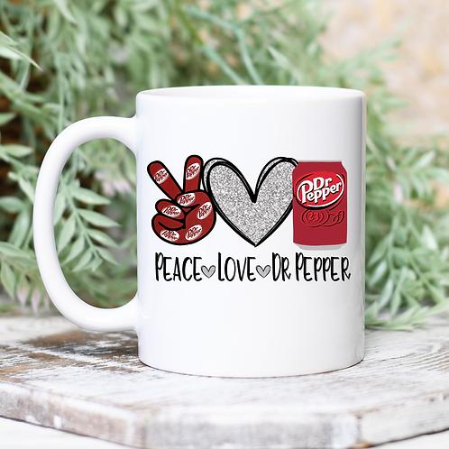 Peace Love Dr. Pepper Mug