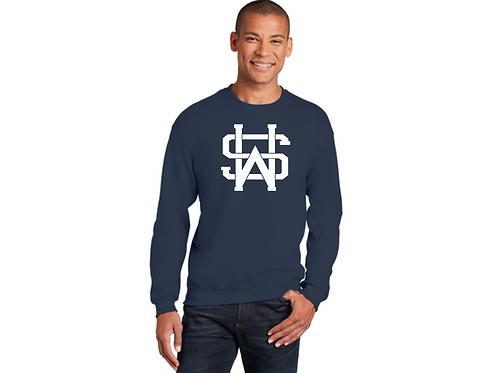 Gildan Navy SW Crew Sweatshirt
