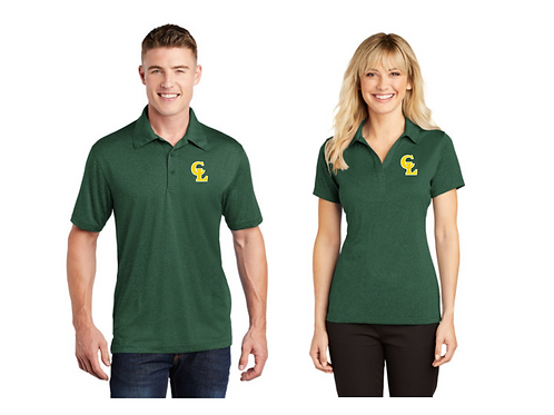 CL Forest Green Heather Contender Polo