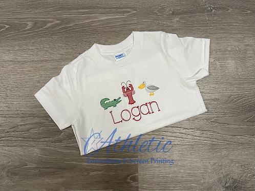 Louisiana Trio Embroidery