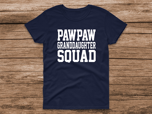 Pawpaw Granddaugther Squad Tee
