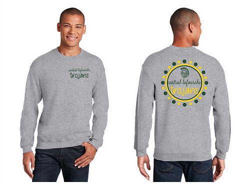 CL Polka Dot Gildan Sport Grey Crew Sweatshirt
