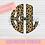 Thumbnail: Leopard Circle Monogram Sublimation Transfer