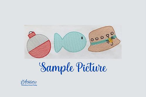 Fishing Trio Embroidery