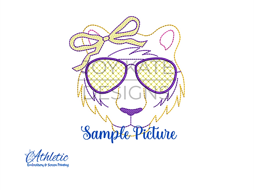 Girl LSU Tiger Embroidery Design