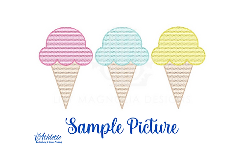Ice Cream Cones Embroidery