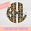 Thumbnail: Leopard Scalloped Circle Monogram Sublimation Transfer