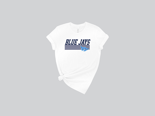 Bella Canvas White Tee -Blue Jays