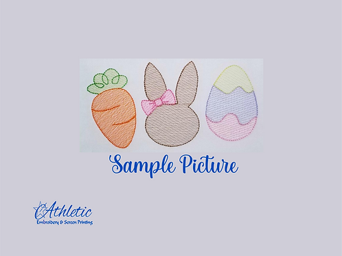 Easter Trio Embroidery Design