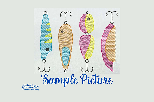 Fishing Hooks Embroidery