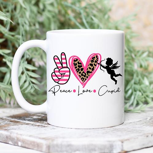 Peace Love Cupid Mug
