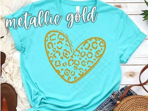 Gold Leopard Heart