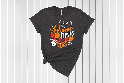 Autumn Leaves and Disney Please Tee