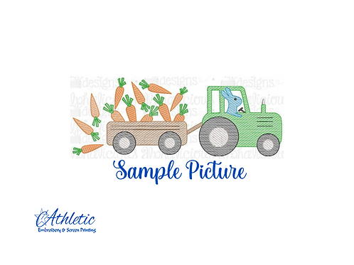 Carrot Tractor Embroidery Design