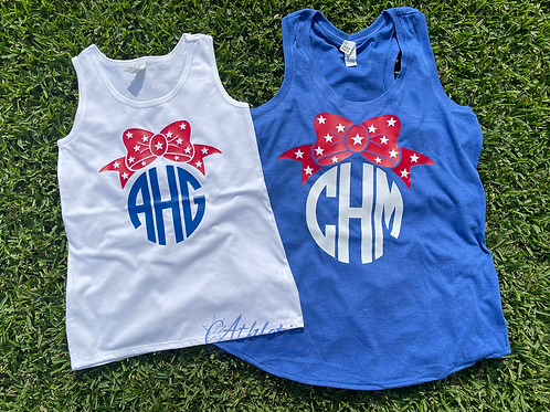 Fourth of July Themed Monogram Tank