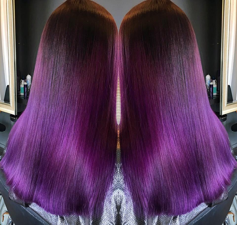 2017 violetti OMA tukka