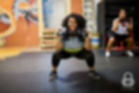 woman weight training and working out