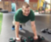 man working out with cardio based high itensity workout