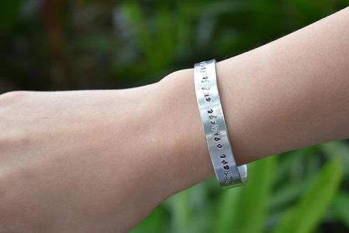 Customized Metal stamped Bracelet