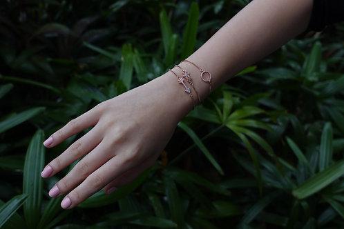 Rose gold coloured Charm Bracelet