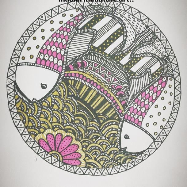 Madhubani fish