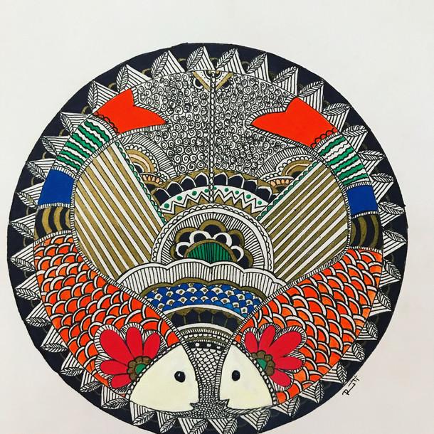 Madhubani Machli art