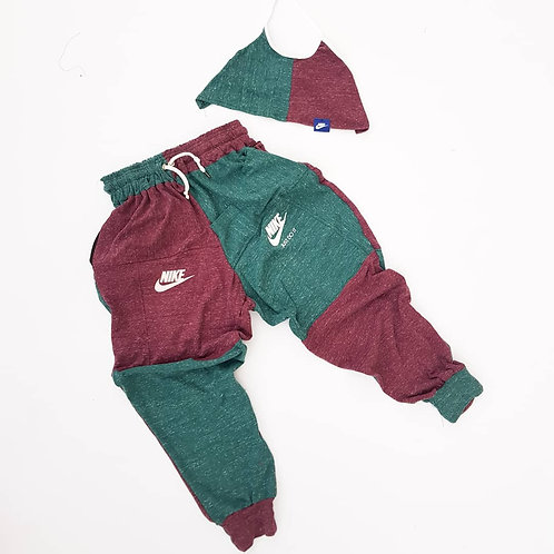 EXCLUSIVE Reworked Nike Patchwork Sweat pants
