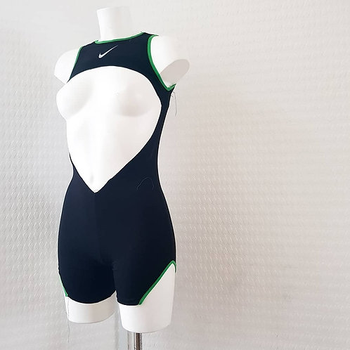 EXCLUSIVE Nike Open front Bodysuit with Coloured Trim Detail