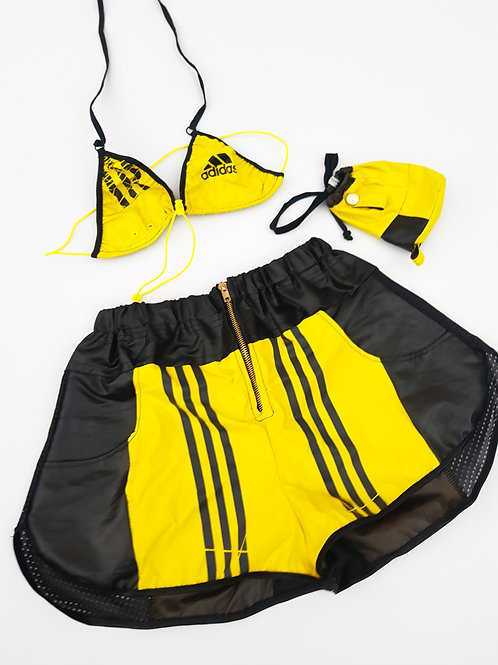 Reworked Yellow and Black Bumble bee 3 Piece