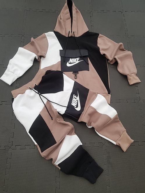 Reworked Nike Mocha Hoodie set