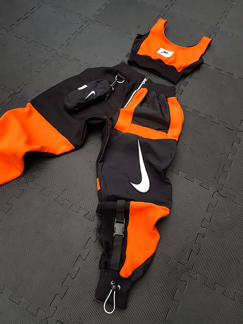 Orange and black nike