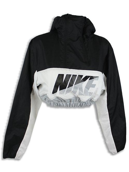 Nike Double Zip hooded Wind Breaker crop