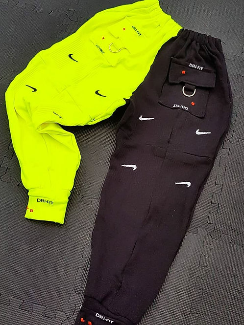 Nike neon and black sock sweats