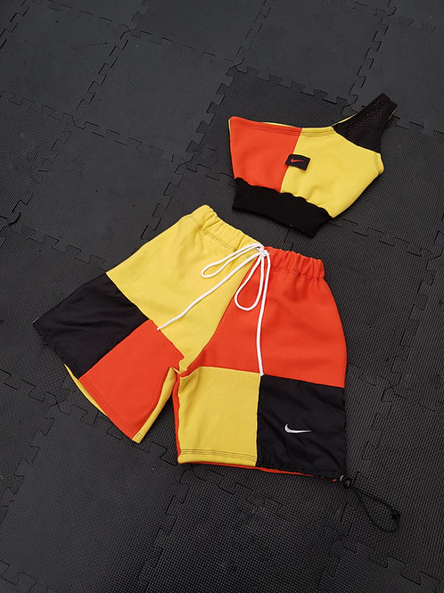 Orange , black yellow nike