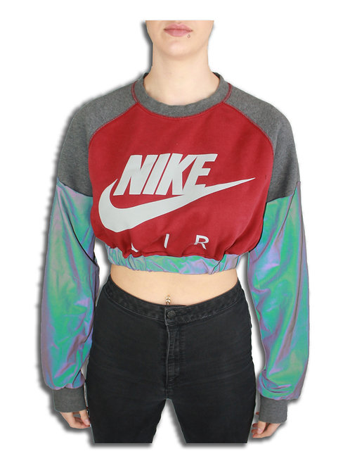 Nike Reflective Sleeve Cropped Sweater
