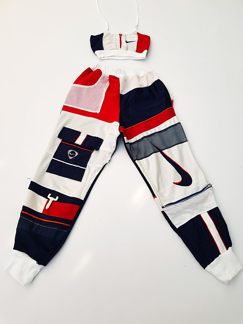 EXCLUSIVE Reworked Nike Patchwork 2 piece