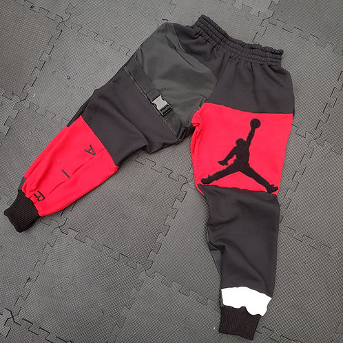 Black and red jordan