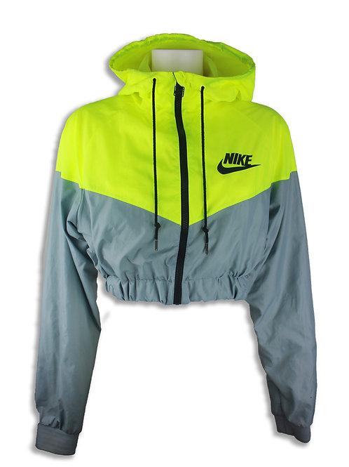 Nike Neon Yellow Rare Cropped Wind Breaker