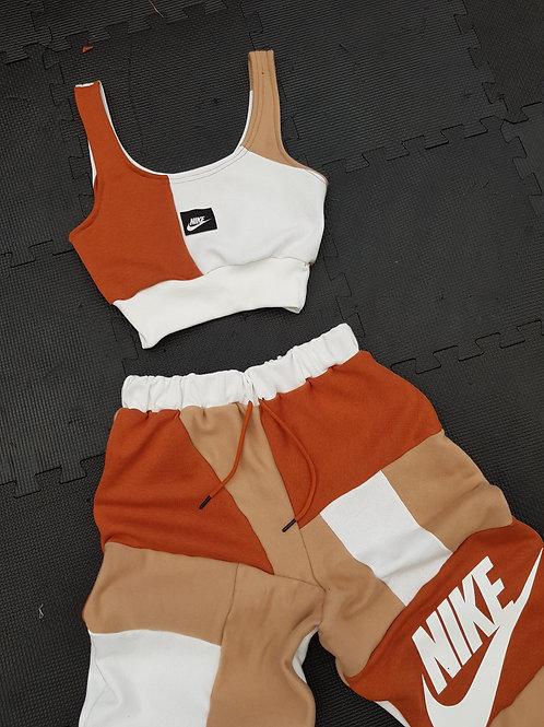 Natural brown nike joggers