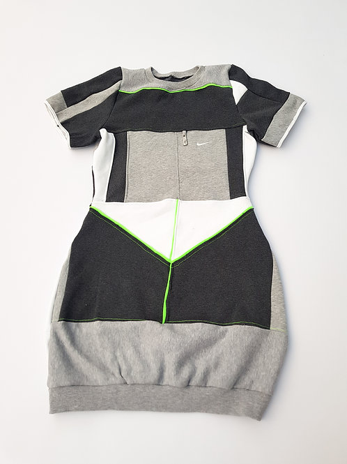 EXCLUSIVE Reworked Nike Patchwork Sweater Dress