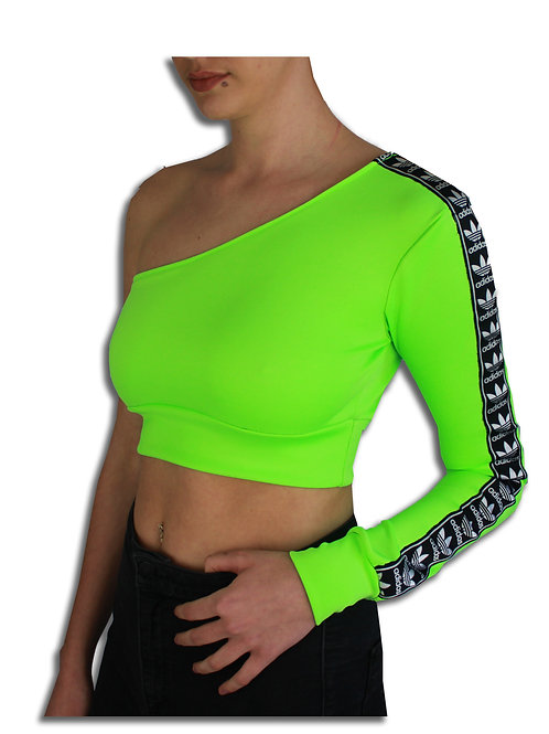 Adidas Neon Green One Sleeve Crop *2 ONLY