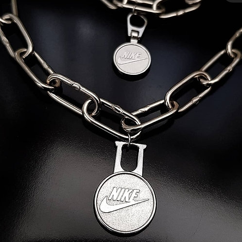 Reworked Nike Necklace and Bracelet