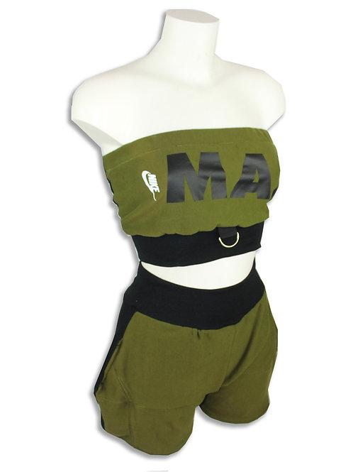 Nike Air MAX Khaki Green Tube top set D ring detail