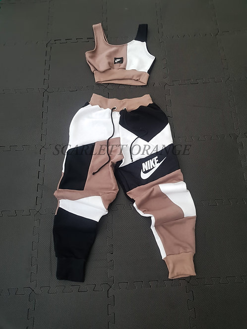 Reworked Nike Mocha Jogger set