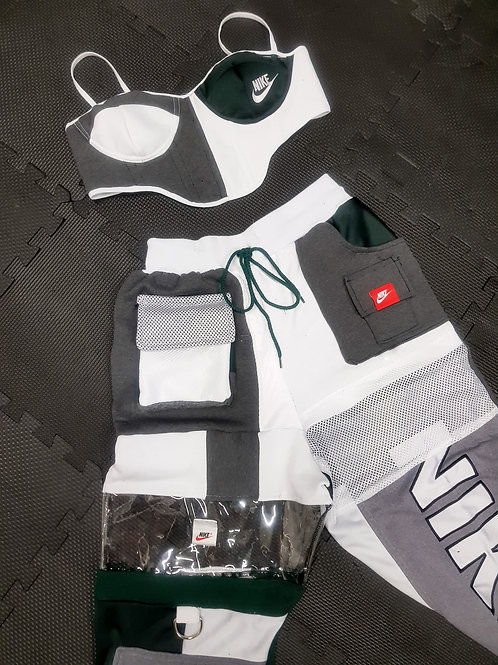 Nike reworked super set corset and sweats