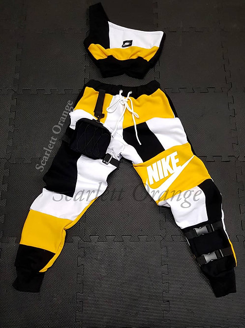 "Reworked Yellow Nike ""Transformer"" - Made to order"
