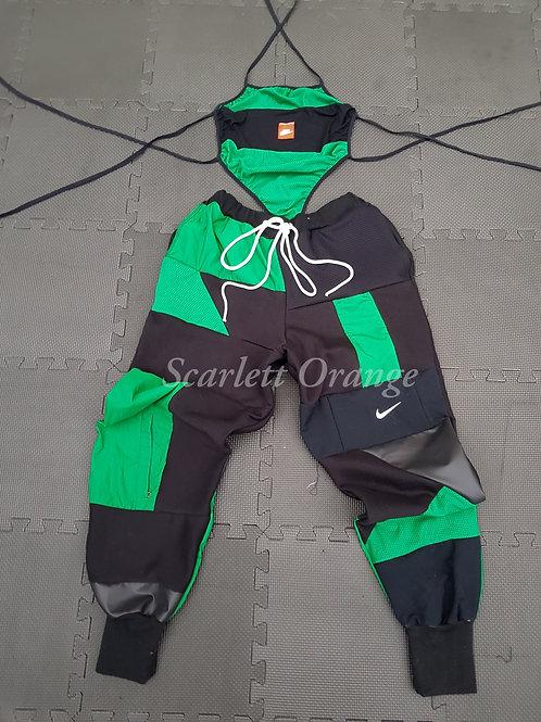 Reworked Green & Black Nike SIZE: UK 12