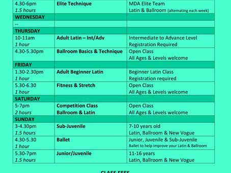Online Timetable - Term 3